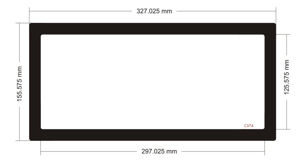 Picture of C574 - 327.025mm x 155.575mm