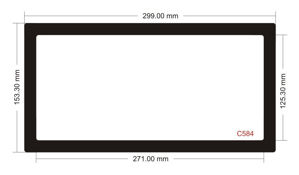 Picture of C584 - 299mm x 153.3mm