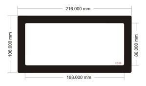 Picture of C588 - 216mm x 108mm