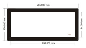 Picture of C593 - 265mm x 120mm