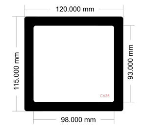 Picture of C638 - 120mm x 115mm
