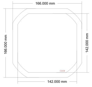 Picture of C654 - 166mm x 166mm