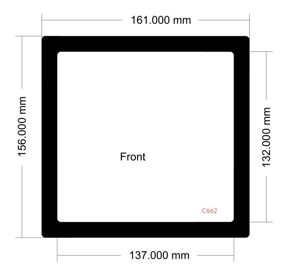 Picture of C662 - 161mm x 156mm - LD PC-V8 Front