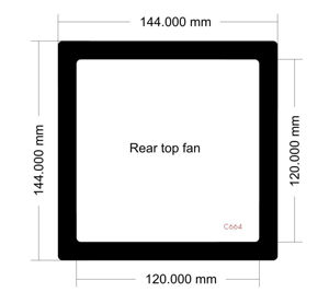 Picture of C664 - 144mm x 144mm - LD PC-V8 Top Rear Fan