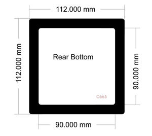 Picture of C665 - 112mm x 112mm - LD PC-V8  Rear Bottom