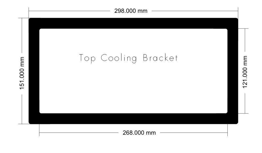 Picture of 0828 - CM MasterCase Pro Maker 5t Top Cooling bracket Filter