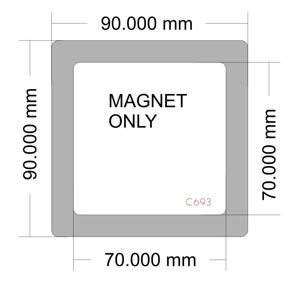 Picture of C693 - 90mm x 90mm Magnet only of C689