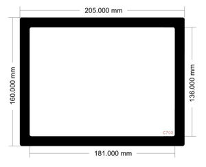 Picture of C703 - 205mm x 160mm