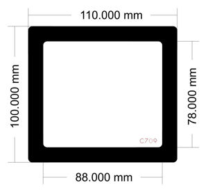 Picture of C709 - 110mm x 100mm