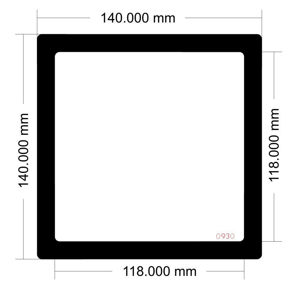 Picture of 0930 - 140mm O/D Square Dust Filter