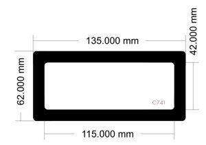Picture of C741 - 135mm x 62mm