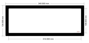 Picture of C807 - 340mm x 134mm - Jonsbo Cooltek VR2 Bottom Filter