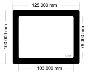 Picture of C816 - 125mm x 100mm