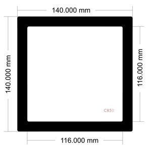 Picture of C850 - 140mm x 140mm