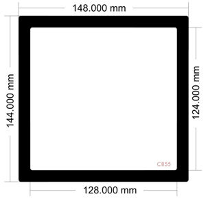Picture of C855 - 148mm x 144mm