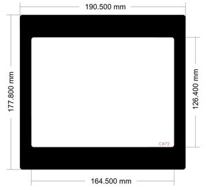 Picture of C872 - 190,5mm x 177,8mm