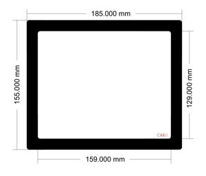 Picture of C880 - 185mm x 155mm
