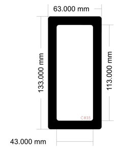 Picture of C835 - 133mm x 63mm