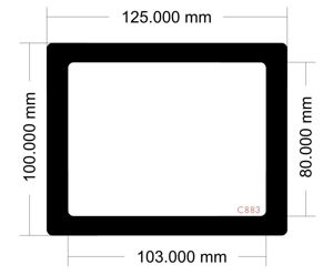 Picture of C883 - 125mm x 100mm