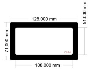 Picture of C894 - 128mm x 71mm