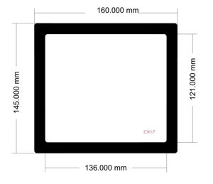 Picture of C907 - 160mm x 145mm
