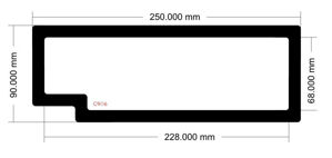 Picture of C906 - 250mm x 90mm