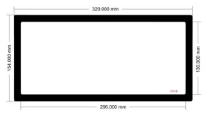 Picture of C908 - 320mm x 154mm
