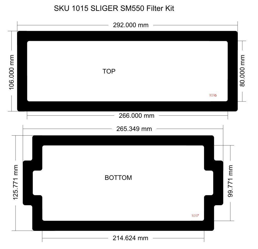Picture of Sliger SM550 Filter Kit