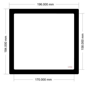 Picture of C992 - 196mm x 184mm Cooler Master Master Box 5 Top Filter