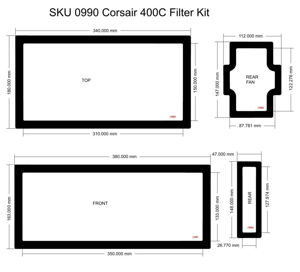 Picture of Corsair 400C Filter Kit