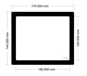 Picture of C1016 - 170mm x 144mm
