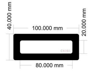 Picture of C1050 - 100mm x 40mm