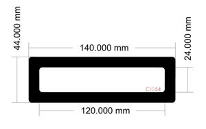 Picture of C1054 - 140mm x 44mm