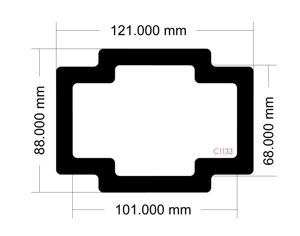Picture of C1133 - 121mm x 88mm  DAN A4 SFX V4 Bottom Front Filter