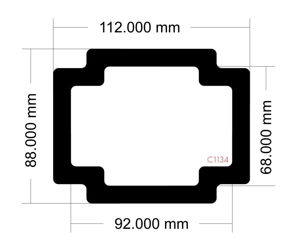 Picture of C1134 - 112mm x 88mm  DAN A4 SFX V4 Bottom Rear Filter