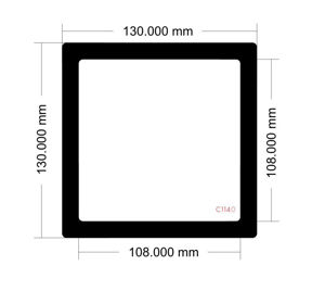 Picture of C1140 - 130mm x 130mm
