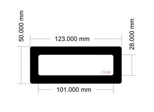 Picture of C1139 - 123mm x 50mm