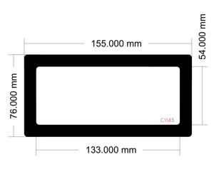 Picture of C1145- 155mm x 76mm