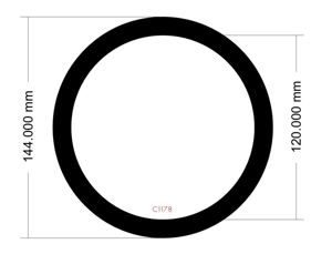 Picture of C1178- 144mm diameter Caselabs SMA8-A Rear Filter