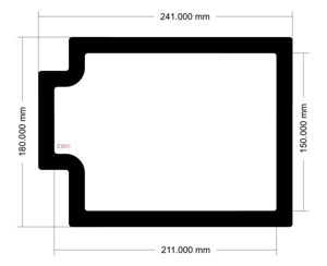 Picture of C1210 - 241mm x 180mm - Phanteks Evolve X Bottom filter