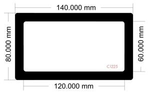 Picture of C1225 - 140mm x 80mm