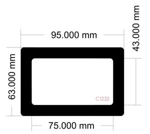 Picture of C1232 - 95mm x 63mm
