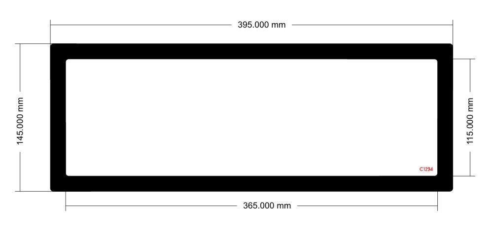 Picture of C1234 - 395mm x 145mm - Lian Li PC011 Dynamic Top Filter