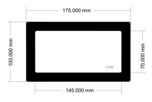 Picture of C1236 - 175mm x 100mm - Lian Li PC011 Dynamic Rear Filter
