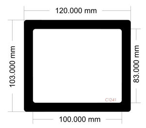 Picture of C1241 - 120mm x 103mm Corsair Carbide 88R  Rear Filter