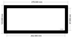 Picture of C1245 - 278mm x 123mm Ncase M1 v6 Side bracket fan filter