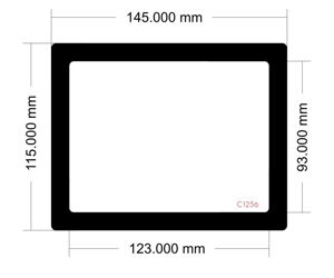 Picture of C1256 - 145mm x 115mm - Corsair Carbide 88R Rear filter large