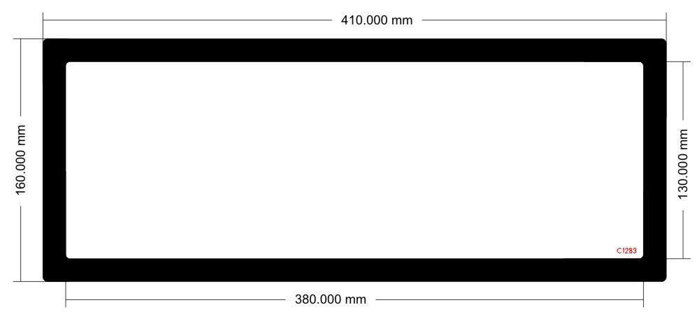 Picture of C1283 - 410mm x 160mm - Lian Li 011 Dynamic  XL Top Filter