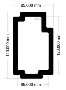 Picture of C1284 - 140mm x 85mm - Lian Li 011 Dynamic XL Rear Filter