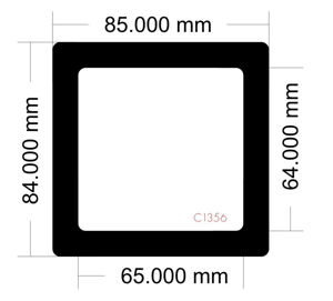 Picture of C1356 - 85mm x 84mm